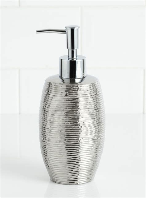 Bhs Bathroom Lighting by Embossed Metallic Soap Dispenser Co Ordinated