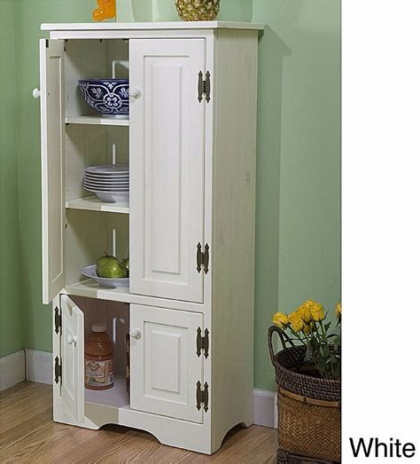 kitchen cabinets  simple white  standing pantry