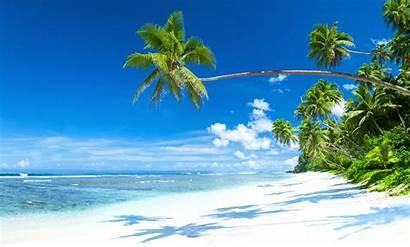 Tropical Beach Sand Background Sea Desktop Sun