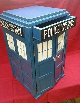 Tardis Cupboard by Dr Who Tardis Inspired Box Bedside Table With