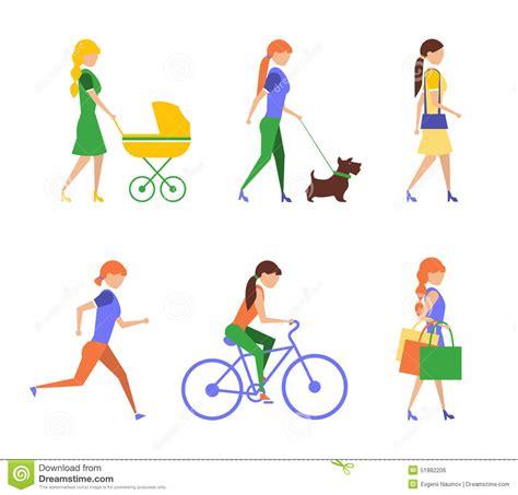 personnes actives mode de vie la vie saine illustration