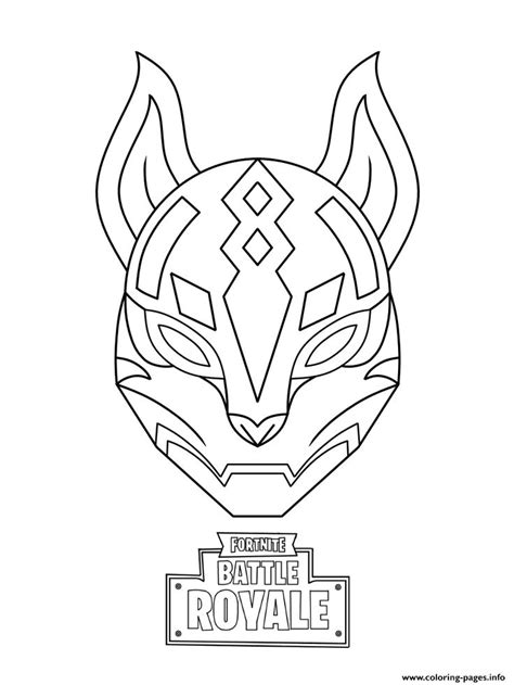 print drift ultimate mask fortnite coloring pages cat