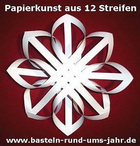 Papiersterne Falten Anleitung Kostenlos : papierkunst ein nostaligischer stern aus 12 streifen selbermachen pinterest ~ Buech-reservation.com Haus und Dekorationen