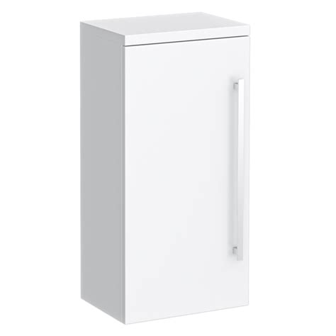 White High Gloss Cupboard by High Gloss White Wall Mounted Cupboard W350 X D250mm