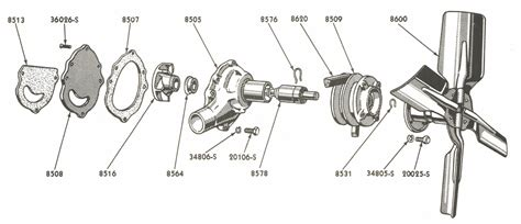 Water Pump Parts For Ford Jubilee Naa Tractors