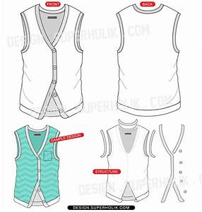 vest vector template hellovector With vest top template