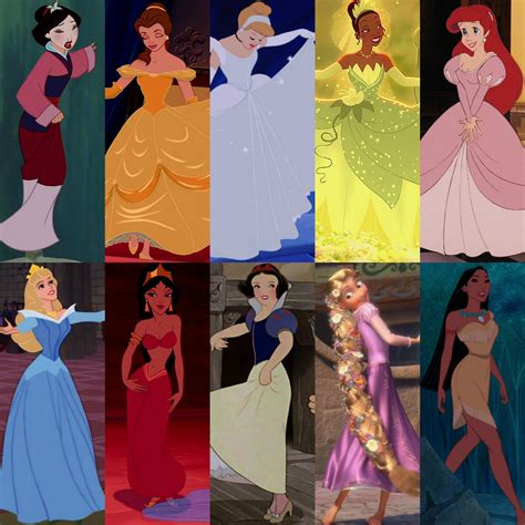 Dress Collage - Ten Original Disney Princesses Photo ...