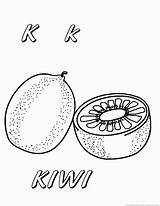 Kiwi Coloring Pages Fruit Fruits Print sketch template