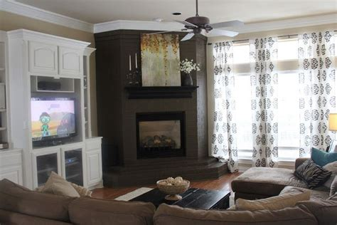 painted brick fireplace fireplaces mantels living room