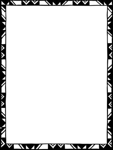 ide  bingkai vektor hitam putih