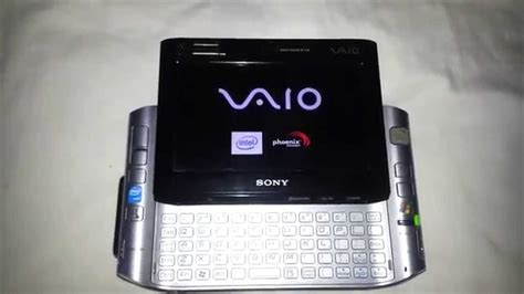 sony vaio mobile sony vaio ultra mobile pc start up vgn ux280p