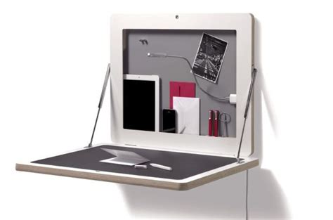 bureau mural rabattable ikea portable workstation you can hang on the wall like a photo