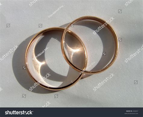 Wedding Rings. Symbol Of Love And Fidelity. Stock Photo