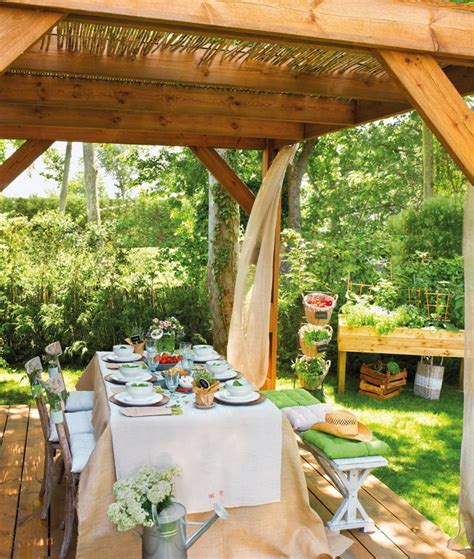 estilo rustico pergolas  patios rusticos