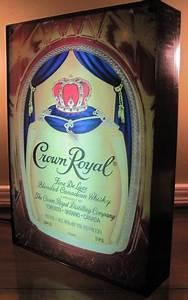 Crown Royal Whiskey Bottle Bag Neon Bar Sign Light Box
