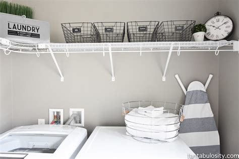diy laundry room shelving storage ideas fantabulosity