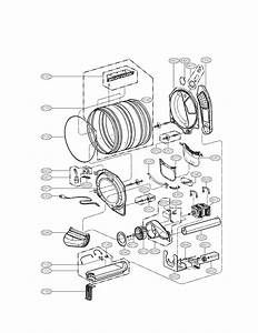 Drum And Motor Assembly Diagram  U0026 Parts List For Model Dlgx2802l Lg