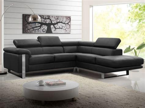 canapé d 39 angle en cuir de vachette 4 coloris mystique