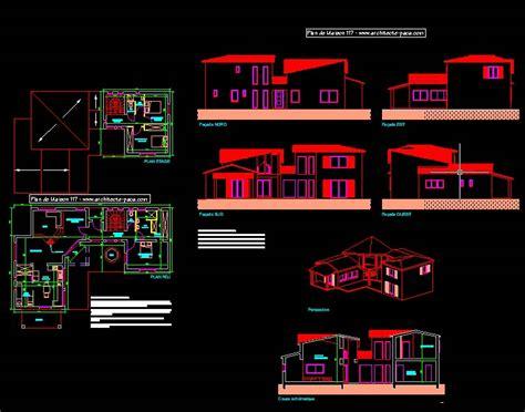 cuisine autocad plan de maison moderne 4 pièces villad 39 architecte 117