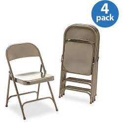set of 4 virco metal folding chairs bronze walmart com