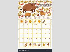 September 2018 Calendar Cute calendar month printable