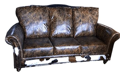Cowhide Leather Sofa by Cowhide Sofas Couches Cowhide Sleepers Free Shipping
