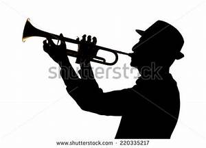 Jazz Player Silhouette Trumpet Stock Photos, Images ...