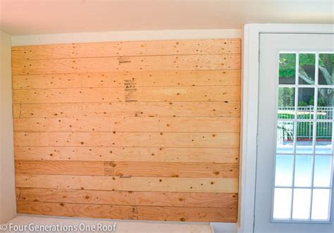 pine plank walls how to plank walls pool house makeover progress four generations one roof
