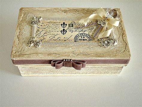 shabby chic box wedding memory box wedding card box bridal shower gift card box distressed gift box romantic
