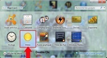 afficher meteo sur bureau windows 7 météo sur bureau windows 7