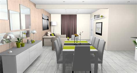 decoration salle  manger gris  blanc idees decoration