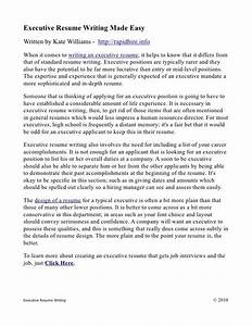 executive resume writing made easy With resume writing made easy