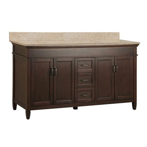 foremost ashburn 61 in w x 22 in d double bath vanity in