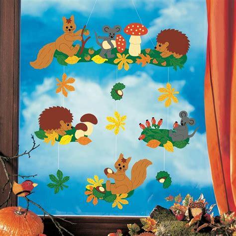 Herbstdeko Fenster Papier by Fensterbild Flei 223 Ige Waldbewohner Herbst