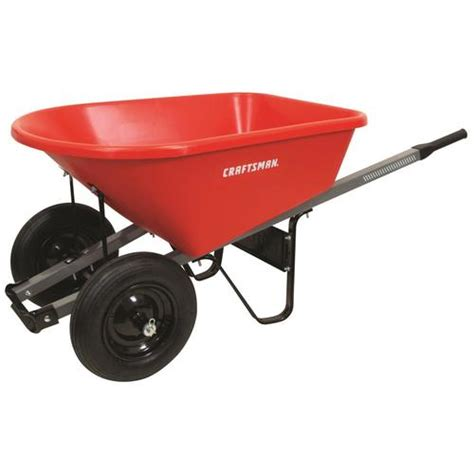 craftsman  cu ft poly wheelbarrow   wheelbarrows