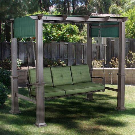 outdoor patio pergola swing replacement canopy garden winds