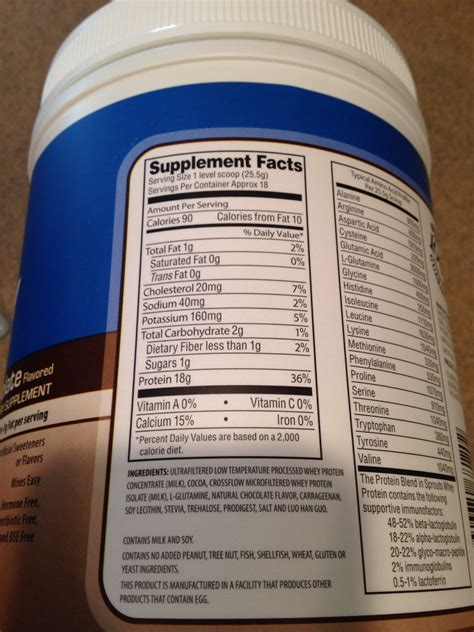 Sprouts Farmers Market Chocolate Flavored Whey Protein