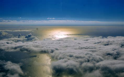 landscape, Sea, Clouds, Aerial View Wallpapers HD ...