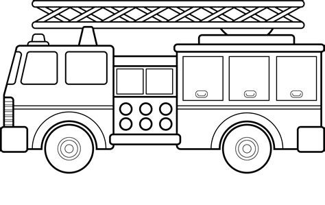printable fire truck coloring pages  kids