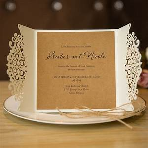 affordable exquisite laser cut grey ribbon wedding With laser cut wedding invitations los angeles