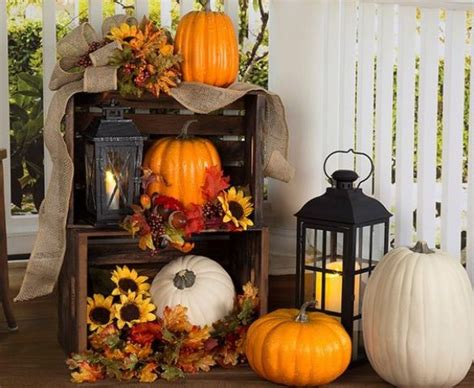Fall Porch Displays by 25 Outdoor Fall D 233 Cor Ideas That Are Easy To Recreate