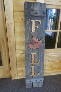 reclaimed wood fall sign porch decoration thanksgiving With exterior wooden sign letters
