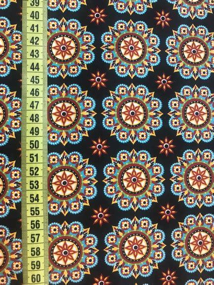 TC692 Tecido mandalas fundo preto no Elo7   Pannobom (143D1C6)