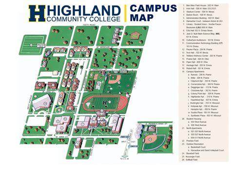 campus map highland community college hcc