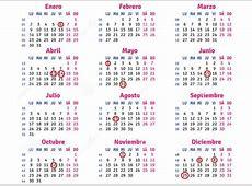 Estos son los días festivos del calendario laboral de
