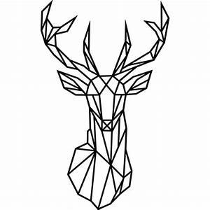 Maison Du Monde Tete De Buffle : sticker design origami t te de cerf stickers animaux ~ Teatrodelosmanantiales.com Idées de Décoration
