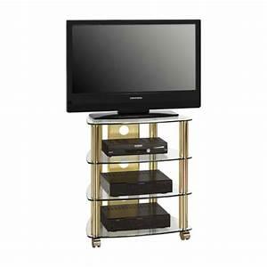 Fernseh Rack Glas : prague lcd tv stand in clear glass top with brass metal ~ Whattoseeinmadrid.com Haus und Dekorationen