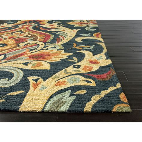 patterned area rugs jaipur rugs modern floral pattern blue polyester area