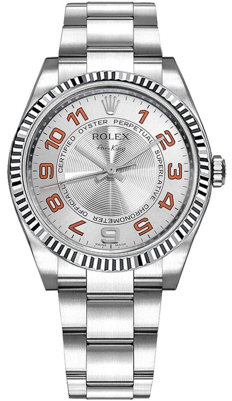 114234 Rolex Oyster Perpetual Air-King Silver Dial Women's ...