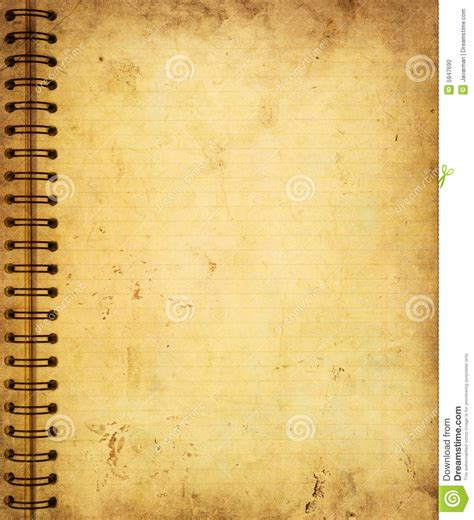 page   grunge notebook stock photo image